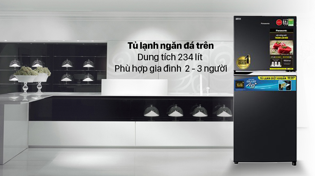 Tủ lạnh Panasonic Inverter 234 lít NR-TV261BPKV với thiết kế đơn giản, nhỏ gọn