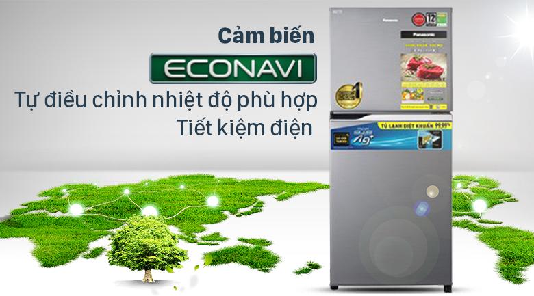 Tủ lạnh Panasonic Inverter 234 lít NR-TV261APSV - Cảm biến thống minh giúp tiết kiệm điện