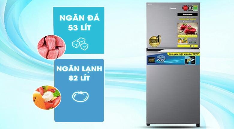 Tủ lạnh Panasonic Inverter 234 lít NR-TV261APSV - Phù hợp cho gia đình từ 2 -3 người
