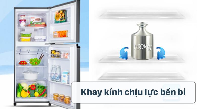 Tủ lạnh Panasonic Inverter 234 lít NR-TV261APSV - Khay kính chịu lực bền bỉ