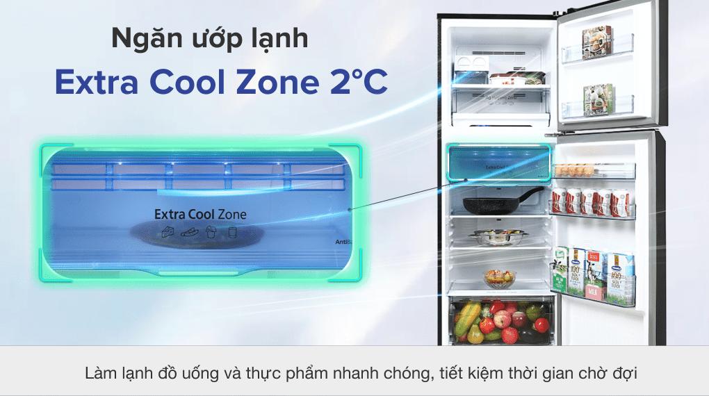 Tủ lạnh Panasonic Inverter 306 lít NR-TV341VGMV - Ngăn ướp lạnh Extra Cool Zone 2 °C