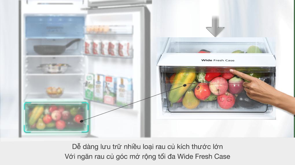 Tủ lạnh Panasonic Inverter 306 lít NR-TV341VGMV - Ngăn Wide Fresh Case