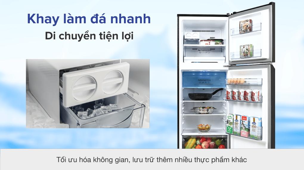 Tủ lạnh Panasonic Inverter 306 lít NR-TV341VGMV - Khay đá linh hoạt