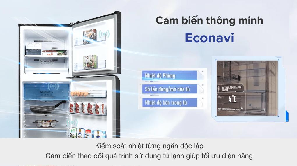 Tủ lạnh Panasonic Inverter 306 lít NR-TV341VGMV - Cảm biến Econavi