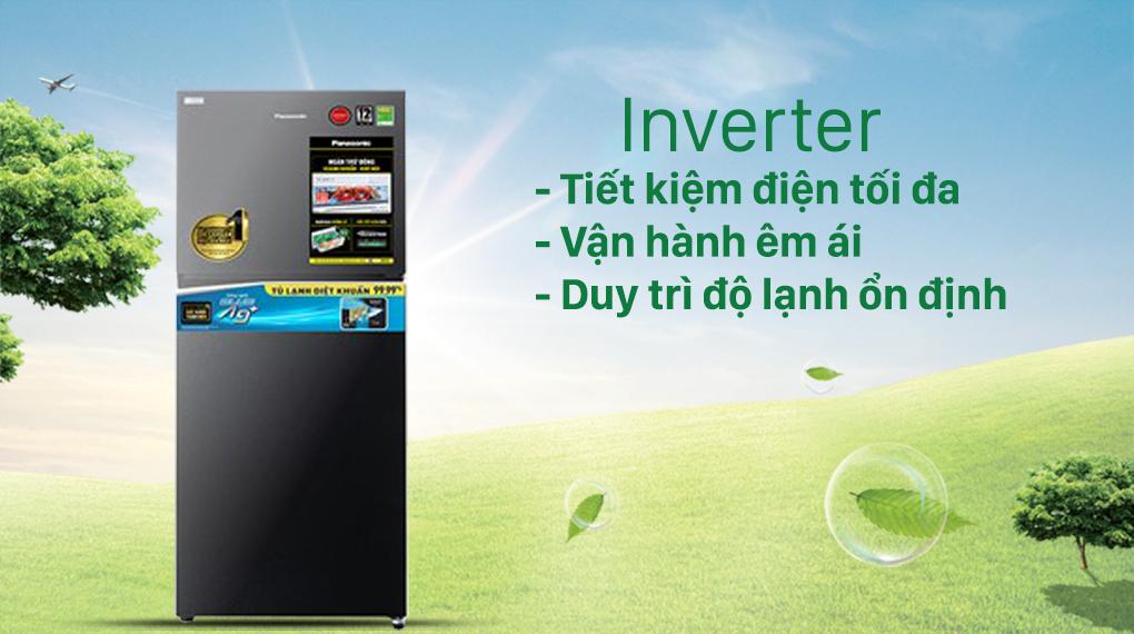 Tủ lạnh Panasonic Inverter 306 lít NR-TV341VGMV-Tiết kiệm điện vượt trội với công nghệ Inverter