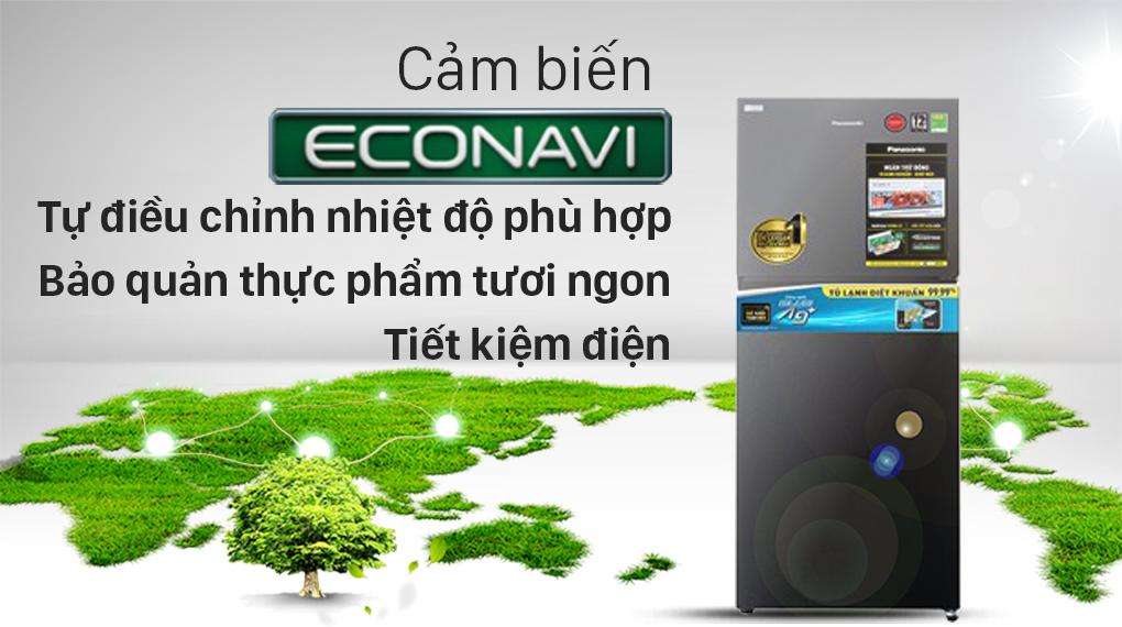 Tủ lạnh Panasonic Inverter 306 lít NR-TV341VGMV-Tiết kiệm điện hiệu quả với cảm biến Econavi