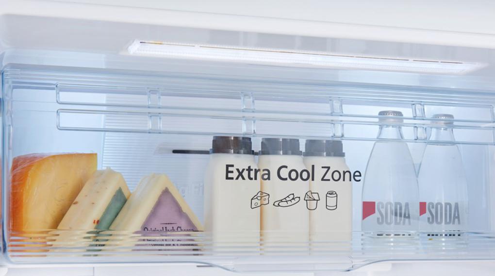 Tủ lạnh Panasonic Inverter 306 lít NR-TV341VGMV-Làm lạnh đồ uống, thực phẩm nhanh trong ngăn Extra Cool Zone 2 độ C