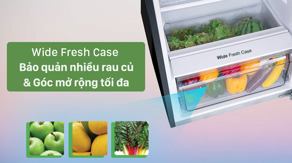 Tủ lạnh Panasonic Inverter 306 lít NR-TV341VGMV - Ngăn rau củ Fresh Wide Case