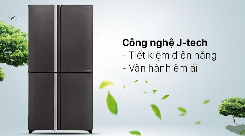 Tủ lạnh Sharp Inverter 572 lít SJ-FX640V-SL - Tiết kiệm điện, vận hành êm ái