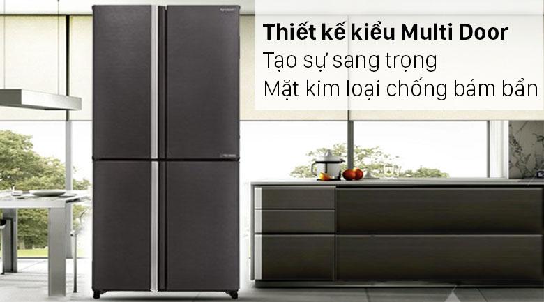 Tủ lạnh Sharp Inverter 572 lít SJ-FX640V-SL - Thiết kế sang trọng