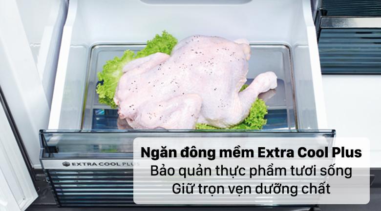 Tủ lạnh Sharp Inverter 572 lít SJ-FXP640VG-BK - Ngăn đông mềm tiện lợi