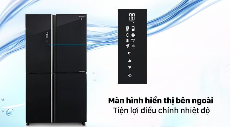Tủ lạnh Sharp Inverter 572 lít SJ-FXP640VG-BK - Màn hình hiển thị bên ngoài