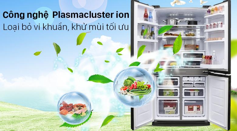 Tủ lạnh Sharp Inverter 572 lít SJ-FXP640VG-BK - Khử khuẩn hiệu quả