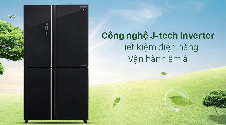 Tủ lạnh Sharp Inverter 572 lít SJ-FXP640VG-BK - Tiết kiệm điện