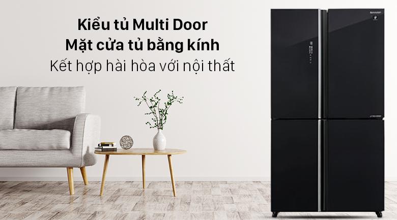 Tủ lạnh Sharp Inverter 572 lít SJ-FXP640VG-BK - Thiết kế sang trọng