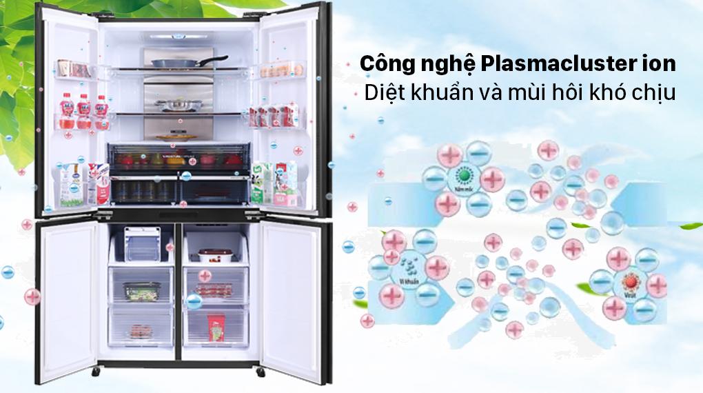 Tủ lạnh Sharp Inverter 572 lít SJ-FXP640VG-MR - Công nghệ Plasmacluster ion