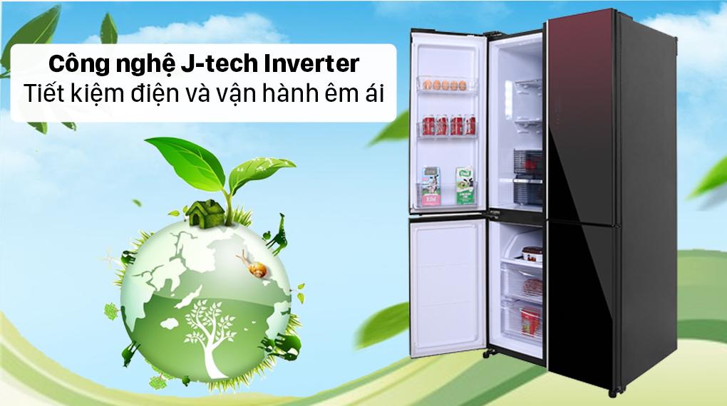 Tủ lạnh Sharp Inverter 572 lít SJ-FXP640VG-MR - Công nghệ J-tech Inverter