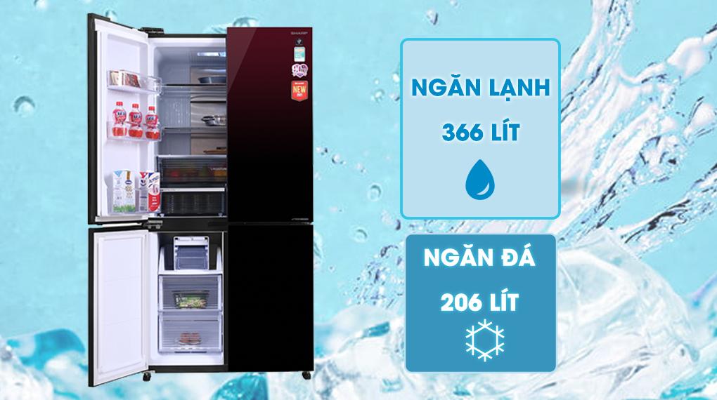Tủ lạnh Sharp Inverter 572 lít SJ-FXP640VG-MR - Dung tích 572 lít