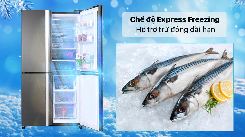 Tủ lạnh Sharp Inverter 525 lít SJ-FX600V-SL - Chế độ Express Freezing
