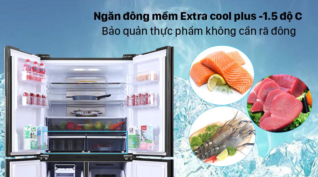 Tủ lạnh Sharp Inverter 525 lít SJ-FX600V-SL - Ngăn đông mềm Extra cool plus