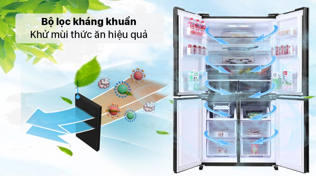 Tủ lạnh Sharp Inverter 525 lít SJ-FX600V-SL - Bộ lovj kháng khuẩn