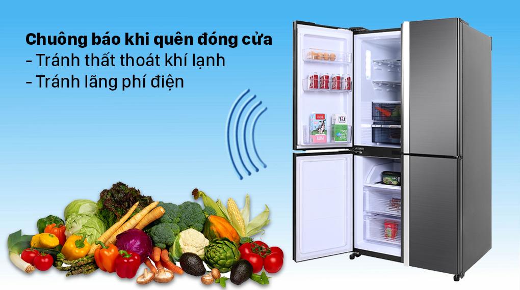 Tủ lạnh Sharp Inverter 525 lít SJ-FX600V-SL - Chuông báo cửa tiện lợi