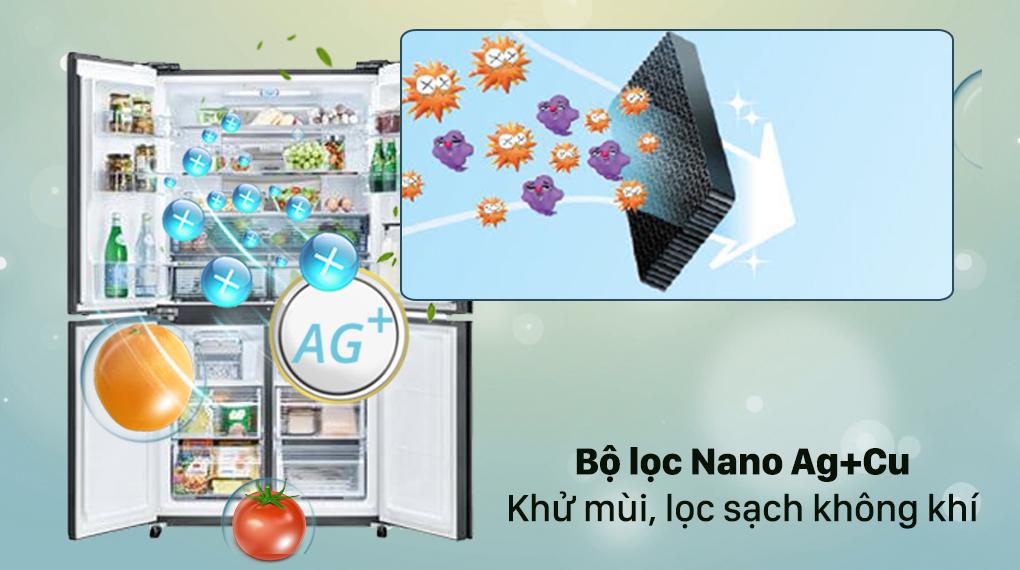 Tủ lạnh Sharp Inverter 525 lít SJ-FXP600VG-MR - Bộ lọc Nano Ag+Cu