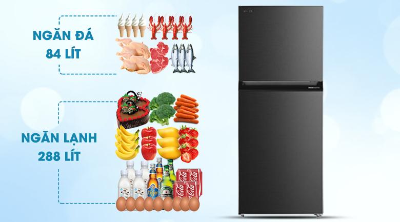 Tủ lạnh Toshiba GR-RT400WE-PMV(06)-MG - Phù hợp cho gia đình từ 3 -4 người