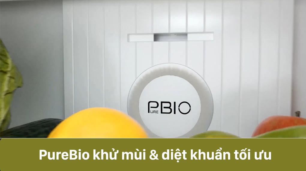 Tủ lạnh Toshiba GR-RT395WE-PMV(06)-MG-Khử mùi hiệu quả, diệt khuẩn tối ưu bởi công nghệ PureBio