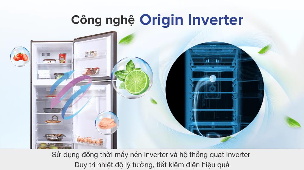 Tủ lạnh Toshiba Inverter 311 lít GR-RT395WE-PMV(06)-MG - Công nghệ Origin Inverter
