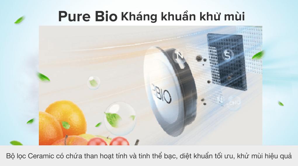 Tủ lạnh Toshiba Inverter 311 lít GR-RT395WE-PMV(06)-MG - Công nghệ PureBio