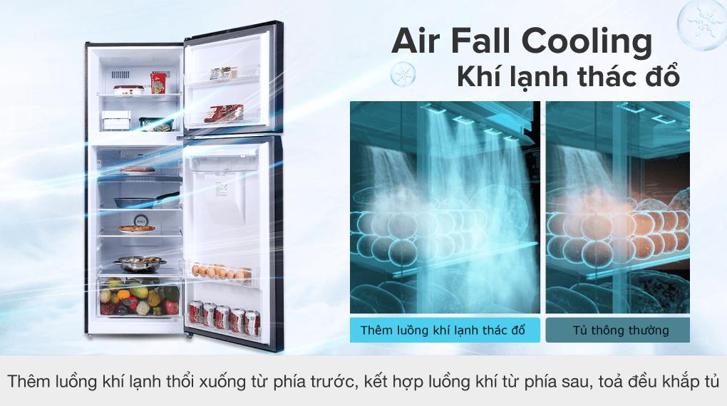 Tủ lạnh Toshiba Inverter 311 lít GR-RT395WE-PMV(06)-MG - Công nghệ Air Fall Cooling