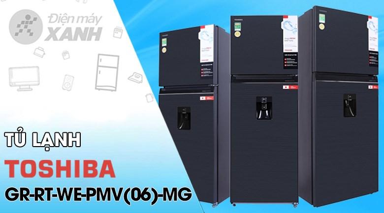 Tủ lạnh Toshiba Inverter 337 lít GR-RT435WE-PMV(06)-MG