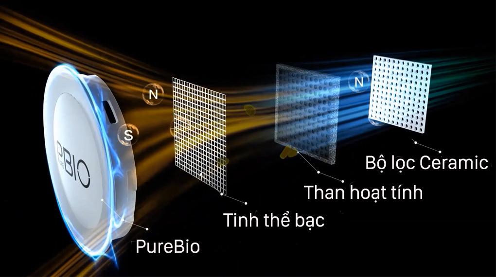 Tủ lạnh Toshiba GR-RT435WE-PMV(06)-MG-Mang lại bầu khí lạnh sạch khuẩn, kéo dài thời gian bảo quản thực phẩm với PureBio