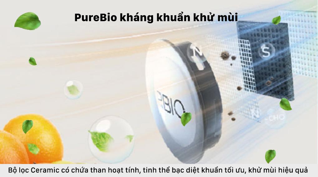 Tủ lạnh Toshiba Inverter 337 lít GR-RT435WE-PMV(06)-MG - Công nghệ PureBio