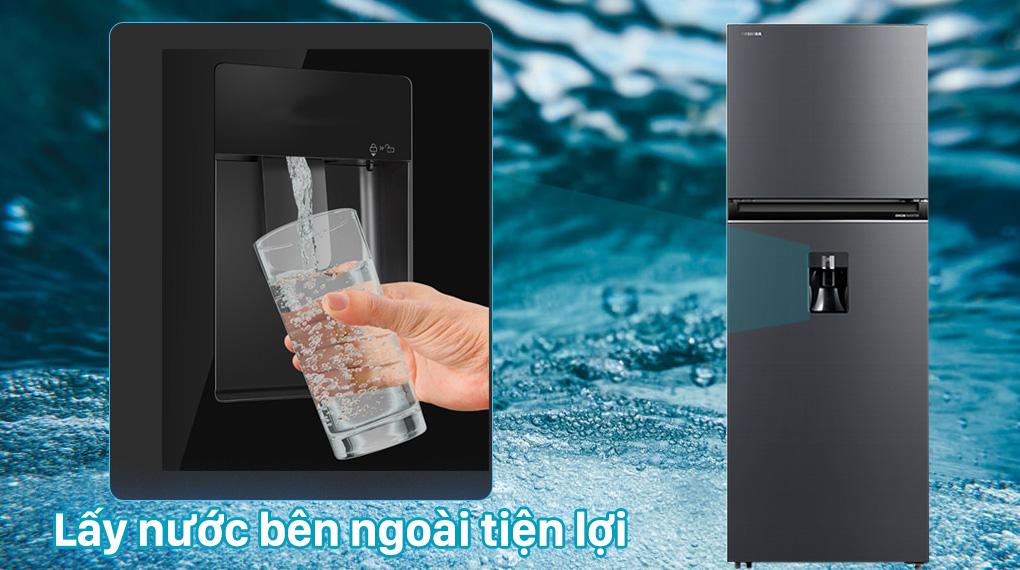 Tủ lạnh Toshiba Inverter 407 lít GR-RT535WE-PMV(06)-MG-Lấy nước bên ngoài ngay tức thì mà không cần mở cửa