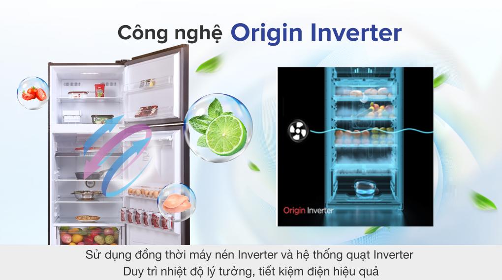 Tủ lạnh Toshiba Inverter 407 lít GR-RT535WE-PMV(06)-MG - Công nghệ Origin Inverter