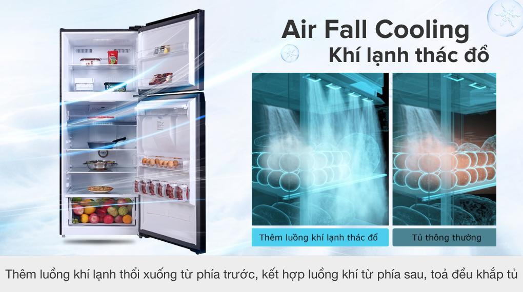 Tủ lạnh Toshiba Inverter 407 lít GR-RT535WE-PMV(06)-MG - Công nghệ Air Fall Cooling