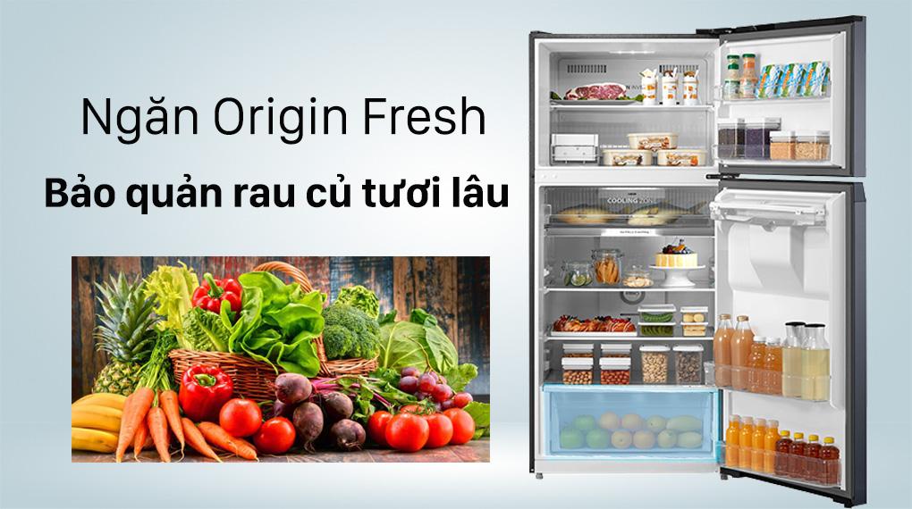 Tủ lạnh Toshiba Inverter 407 lít GR-RT535WE-PMV(06)-MG-Kéo dài thời gian bảo quản rau củ nhờ ngăn Origin Fresh điều chỉnh độ ẩm