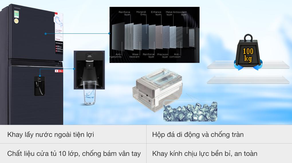 Tủ lạnh Toshiba Inverter 407 lít GR-RT535WE-PMV(06)-MG - Tiện ích lấy nước ngoài
