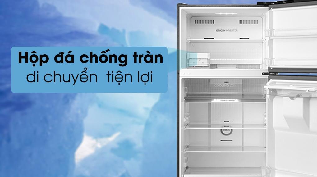 Tủ lạnh Toshiba Inverter 407 lít GR-RT535WE-PMV(06)-MG-Tiện lợi di chuyển hộp đá chống tràn, tối ưu hóa không gian lưu trữ