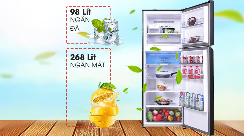 Tủ lạnh Panasonic Inverter 366 lít NR-TL381VGMV - Dung tích 366 lít