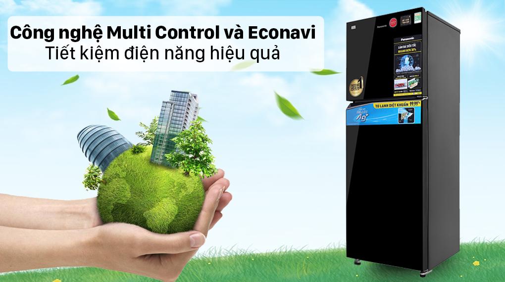 Tủ lạnh Panasonic Inverter 366 lít NR-TL381VGMV - Công nghệ Multi Control và Econavi