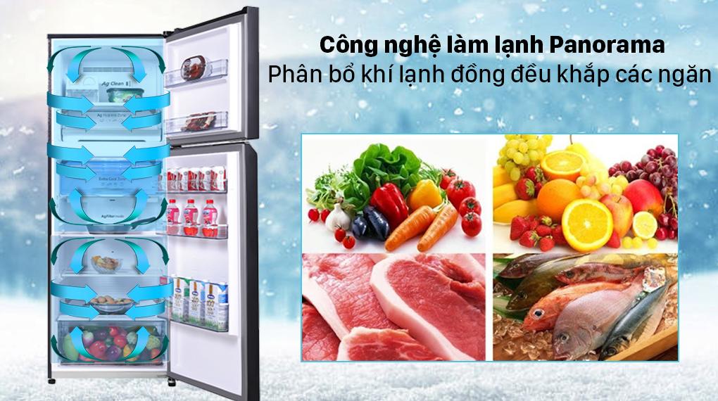 Tủ lạnh Panasonic Inverter 366 lít NR-TL381VGMV - Công nghệ Panorama
