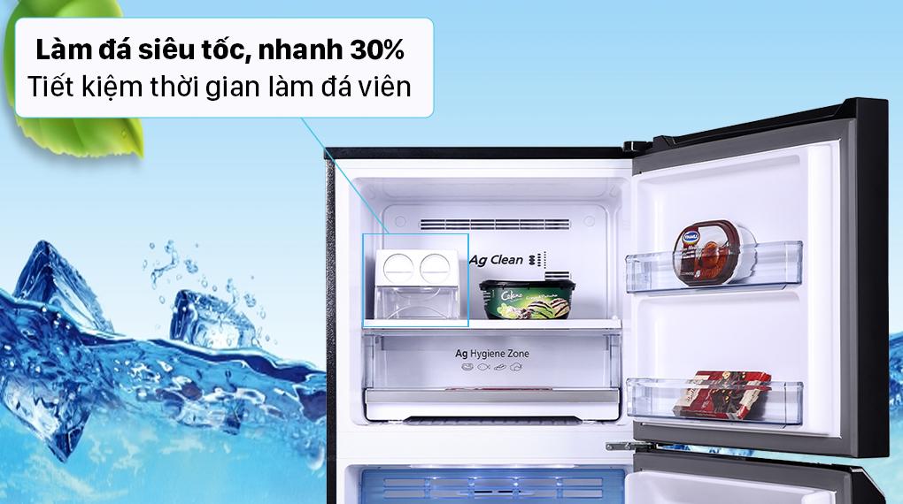 Tủ lạnh Panasonic Inverter 366 lít NR-TL381VGMV - Làm đá nhanh