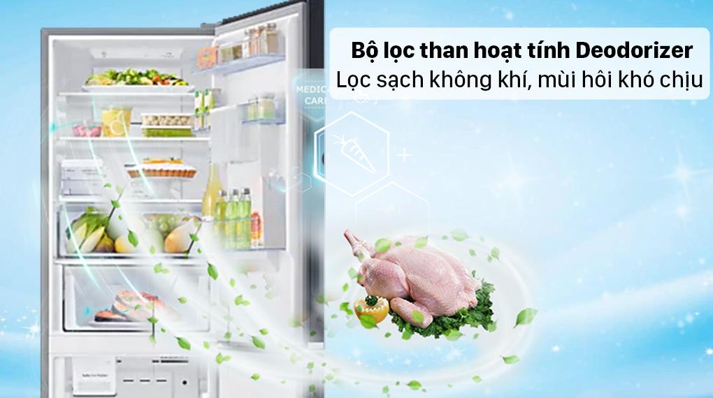 Tủ lạnh Samsung Inverter 307 lít RB30N4190BU/SV - Lọc không khí, khử mùi hôi