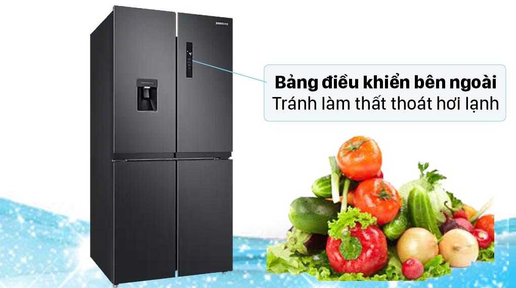 Tủ lạnh Samsung Inverter 488 lít RF48A4010B4/SV - Bảng điều khiển bên ngoài