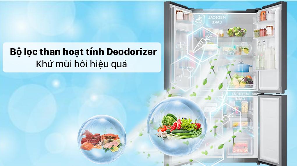 Tủ lạnh Samsung Inverter 488 lít RF48A4010B4/SV - Bộ lọc than hoạt tính Deodorizer