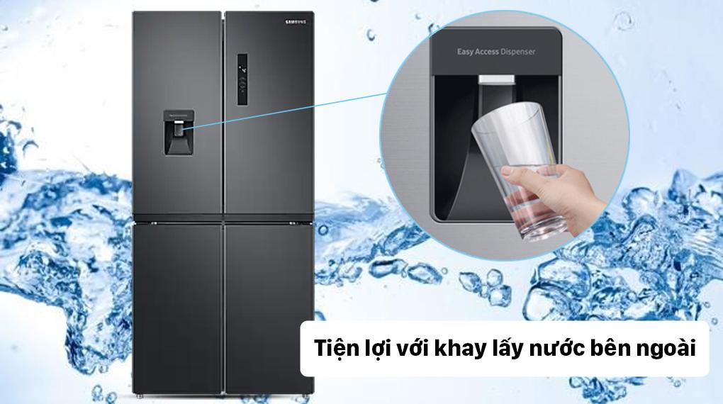 Tủ lạnh Samsung Inverter 488 lít RF48A4010B4/SV - Lấy nước ngoài tiện lợi