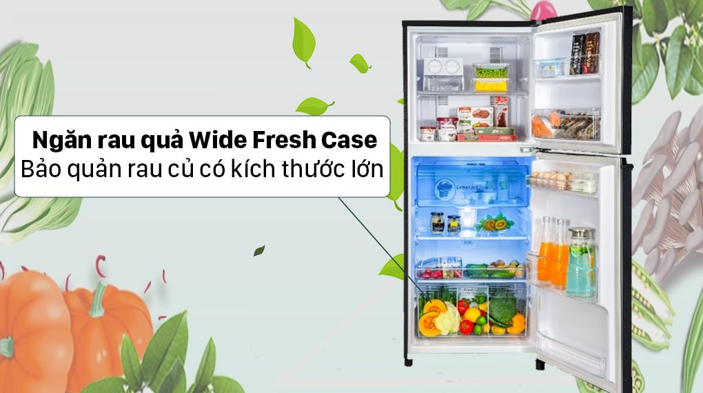 Tủ lạnh Panasonic Inverter 326 lít NR-TL351VGMV - Ngăn rau củ Wide Fresh Case